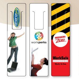 """6"""" Clear or White Vinyl Bookmarks BM-VINYL-6 Bookmarks and Rulers Plastic Bookmarks and Rulers"""