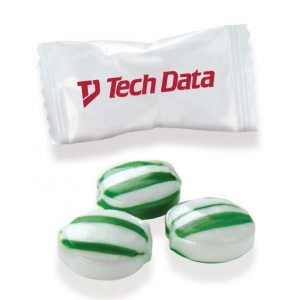 Best Seller - Individually Wrapped Green Striped Mints CY-WC-GSM Candy Individually Wrapped Candies