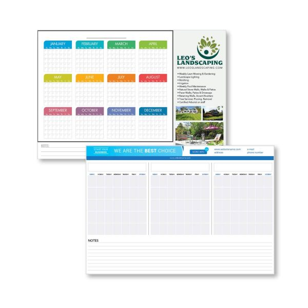 "30"" x 44"" Styrene Perpetual Dry Erase Calendar JJC-3200-S Calendars Perpetual Calendars"