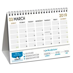 Hemp Paper Desk Flip Calendars JJC-4000-HP Calendars Desk Flip Calendars