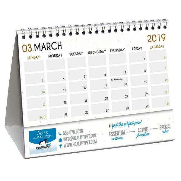 Hemp Paper Desk Flip Calendars JJC-4000-HP Calendars Desk Flip Calendars