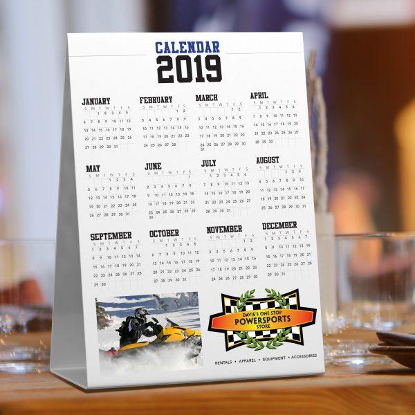 Vertical Seed Paper Table Tent Calendar JJC-TT-101-SP Calendars Table Tent Calendars
