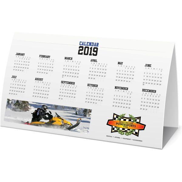 Horizontal Seed Paper Table Tent Calendar JJC-TT-102-SP Calendars Table Tent Calendars