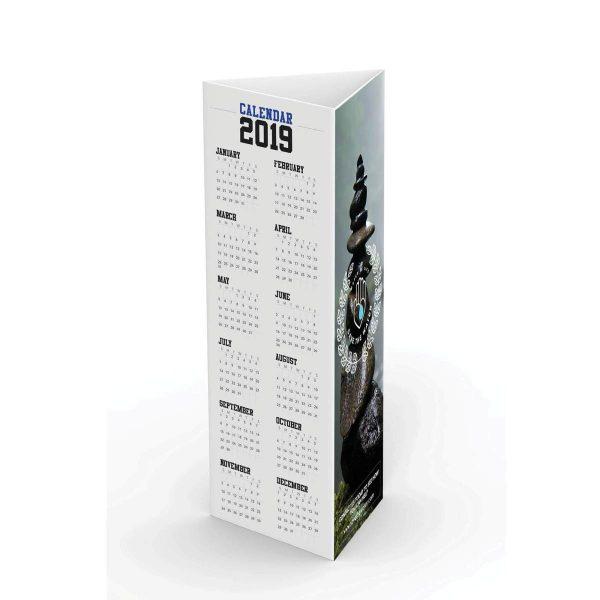 Tri fold Seed Paper Table Tent Calendar JJC-TT-103-SP Calendars Table Tent Calendars
