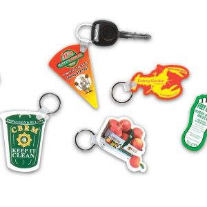 "Custom Shape Compressed Lamination Key Tags - Up to 2"" x 4"" KEC-2x4 Key Tags Custom Shape Compressed Lamination Key Tags"