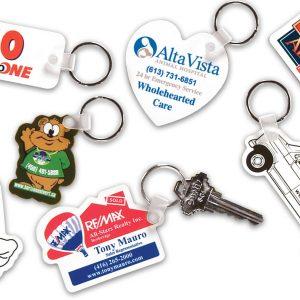 "Custom Shape Styrene Key Tags - Up to 4"" x 4"" KE-S-5 Key Tags Custom Shape Styrene Key Tags"