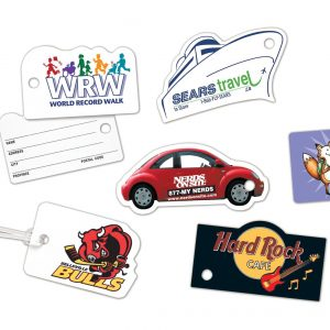 "Custom Shape Luggage Tags up to 4"" x 5"" LP-LT-C3 Luggage Tags Custom Shape Luggage Tags"