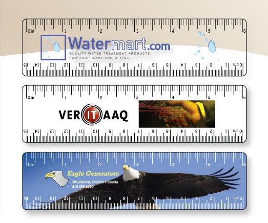 "6"" Clear or White Vinyl Rulers RL-VINYL-6 Bookmarks and Rulers Plastic Bookmarks and Rulers"