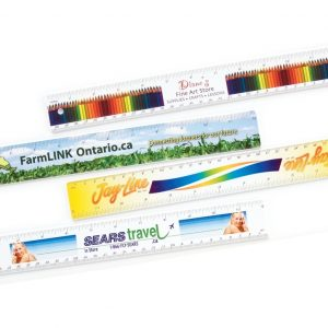 "12"" Heavyweight Plastic Rulers RL-STY-12-4CP Bookmarks and Rulers Heavyweight Plastic Rulers and Yardsticks"