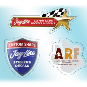 "Custom Roll Stickers - Clear Polyester - Up to 2"" x 2"" RS-CP-C-SMALL Roll Stickers Custom Roll Sticker Shapes"