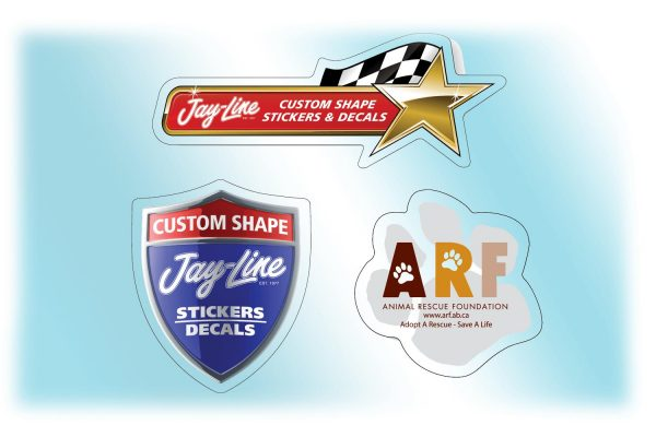 """Custom Roll Stickers - Clear Polyester - Up to 2"""" x 2"""" RS-CP-C-SMALL Roll Stickers Custom Roll Sticker Shapes"""