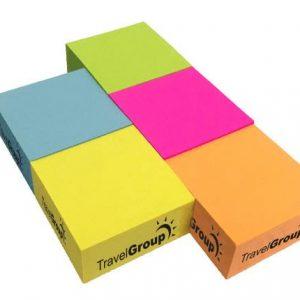 Adhesive Colour Burst Half Cubes - Short Run SN-CUBE-CB-SR-HALF Note Pads Adhesive Cubes