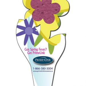 Flower Shaped Seeded Paper Bookmark SP-1120 Seeded Products Seeded Paper Bookmarks