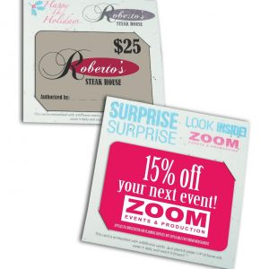Direct Print Seeded Paper Gift Card Holder SP-DP-GIFTCARD Seeded Products Direct Print Seeded Paper Products