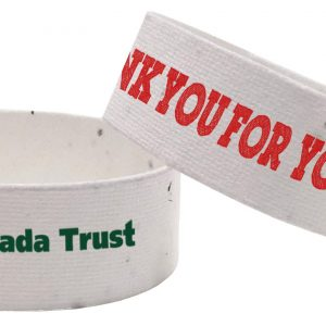 Direct Print Seeded Paper Wristbands SP-DP-WRIST Seeded Products Direct Print Seeded Paper Products