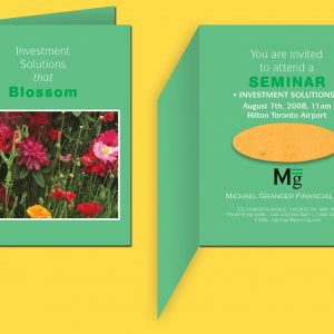 Folded Seeded Paper Invitation SP-INVITE2 Seeded Products Seeded Paper Invitations